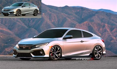 Civic Si News by New 2017 Civic Si Coupe Render 2016 Honda Civic Forum