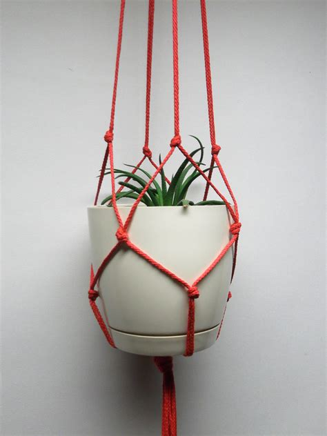 Macrame Hanging Planter Patterns - simple plant hanger hanging planter macrame plant