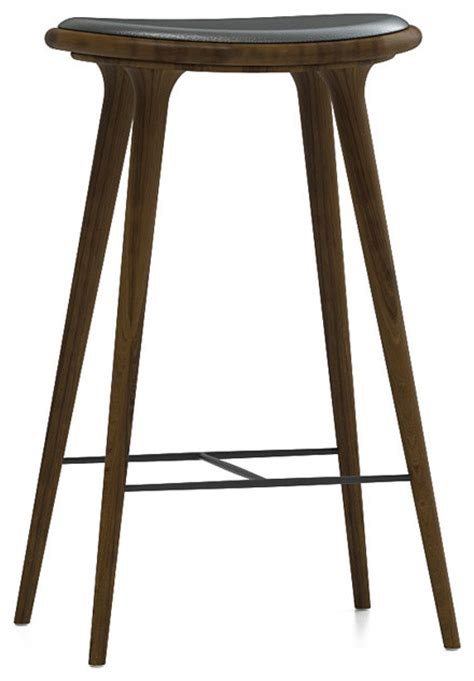 dark oak bar stools mater counter stool dark stained white oak modern