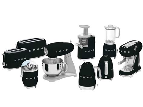 smeg ecfbleu espresso kaffeemaschine schwarz