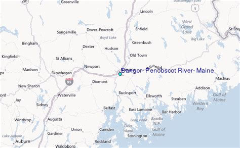 bangor maine map bangor penobscot river maine tide station location guide