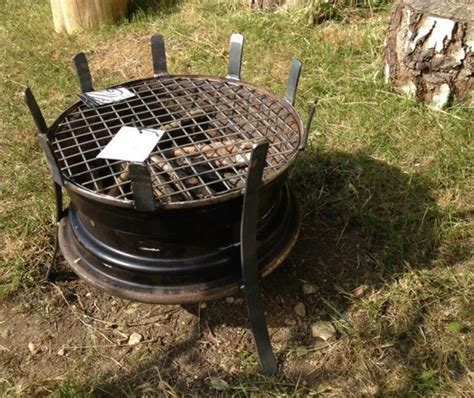 Recycled Rim Bbq Fire Pit The Owner Builder Network Bbq Firepit