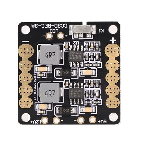 Power Distribution Board Pdb 5v 12v Dual Bec 3 In 1 Lc Filter 5v 12v bec led pcb pdb power distribution board cc3d gliders distribution
