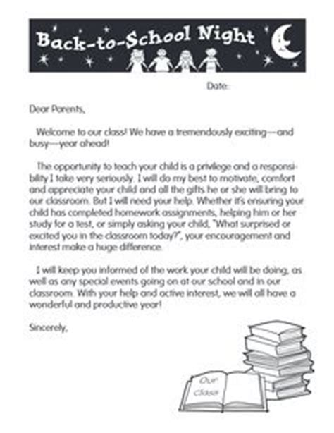 Parent Letter Template Back To School Welcome Back Students On Resource Lakeshore Lea