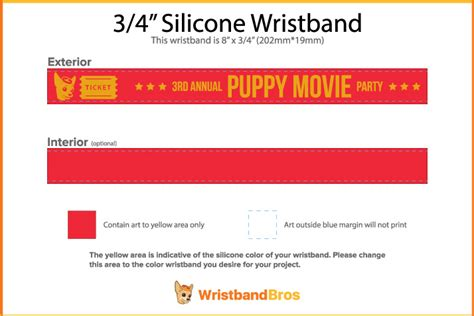 Designing A Custom Wristband All By Your Lonesome Event Wristband Template
