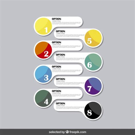 freepik com infographics options in modern style vector free download