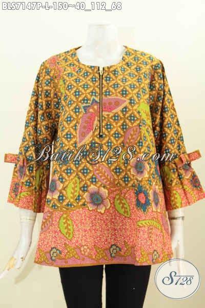 Blus Batik Terbaru Atasan Batik Kator Batik Trendy B2 0916 082 model gamis batik design bild