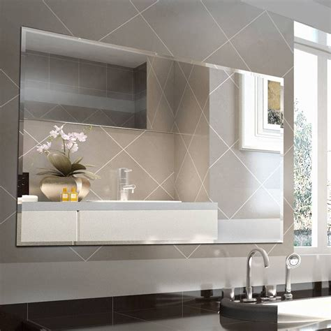 Bevelled Bathroom Mirror by 20 Best Of Bevelled Edge Bathroom Mirrors
