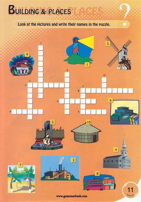 Puzzle Infantinobuild A Town building and place names word
