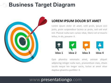 Target Business Powerpoint Diagram Presentationgo Com Target Powerpoint Template