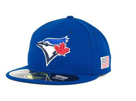 Topi New Era Original Mlb Toronto Blue Jays Fitted Size 714 toronto blue jays new era mlb ac on field 9 11 patch 59fifty cap hats at lids ca