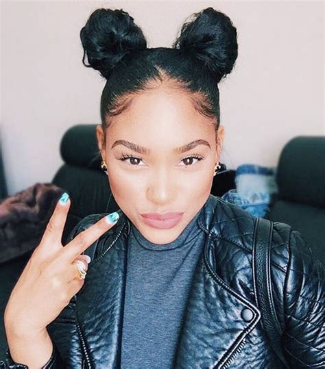 natural hairstyles two buns 9 easy on the go hairstyles for naturally curly hair byrdie