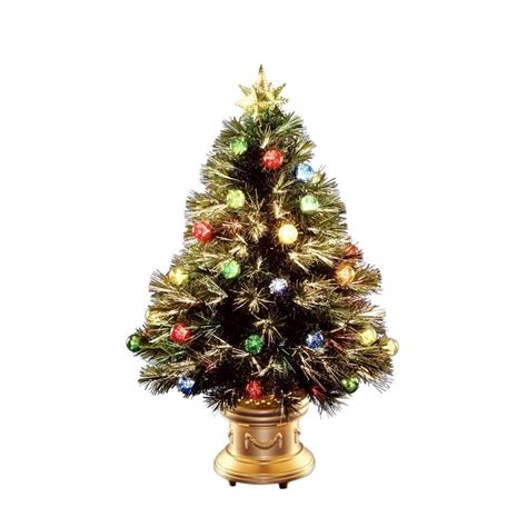 home depot fiber optic christmas tree national tree company 36 in fiber optic fireworks artificial tree szox7 100 36 the home depot