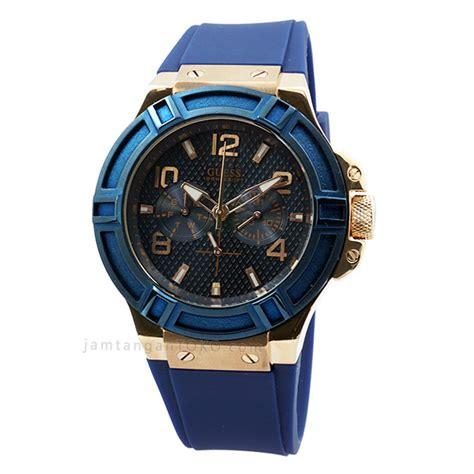 Jam Tangan Branded Guess guess biru w0247g3 karet kw toko jam tangan