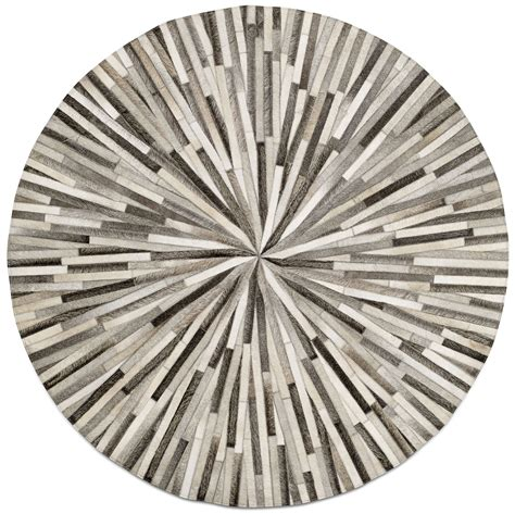 grey cowskin 150cm diameter contemporary rugs