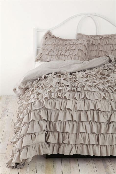 gray ruffle bedding ruffle bedding bedroom pinterest ruffle bedding