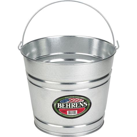 behrens 10 qt galvanized pail 1210gs the home depot