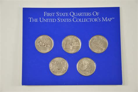 quarter map of the united states historic coin collection state quarters of the