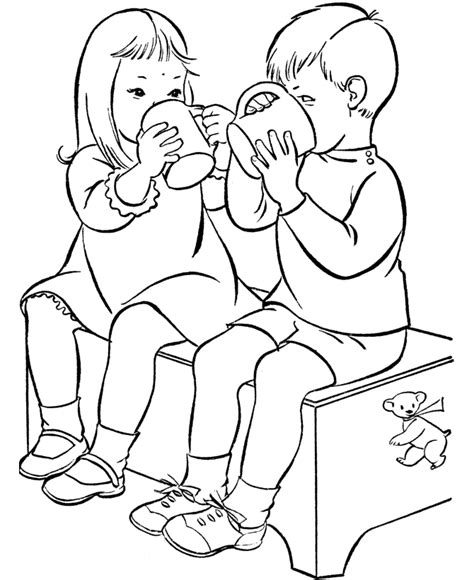 Best Friends Coloring Pages Printable Coloring Home Friends Coloring Page