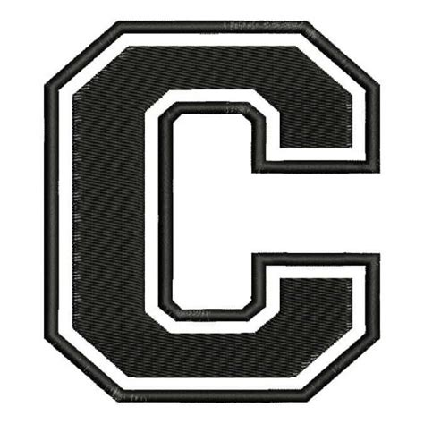 letter c typography galagrafic embroidered patch quot c quot letter c font