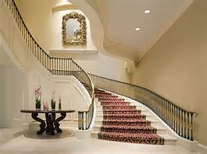 marvelous House Plans With Spiral Staircase #5: modern-grand-staircase-with-red-carpet-design-ideas.jpg