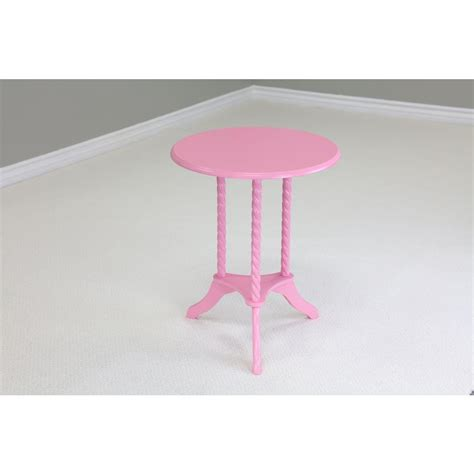 Pink Side Table Megahome Pink End Table Mh09pk The Home Depot