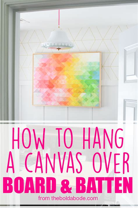 how to hang canvas how to hang a canvas board and batten