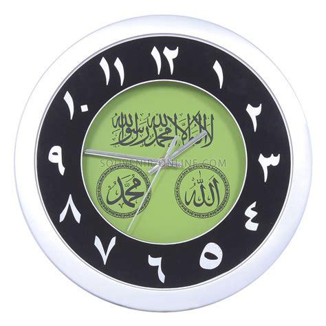 Jam Dinding Arab jual jam dinding silver angka arab hijau 33 cm di lapak souvenir souvenironline