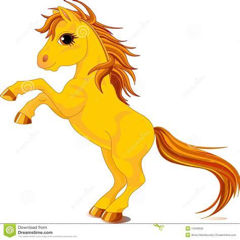 clipart cavallo cavallo giallo illustrazione vettoriale illustrazione di