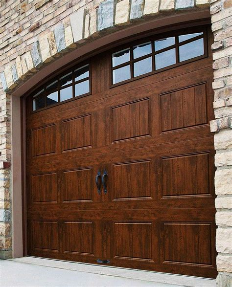 Wooden Garage Doors Clopay Gallery Collection 8 Ft X 7 Ft 18 4 R Value Intellicore Insulated Ultra Grain Walnut