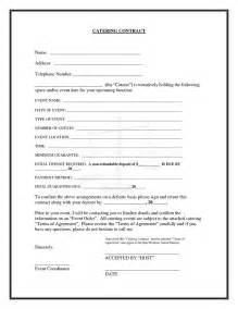 catering contract template printable free catering contracts search engine at