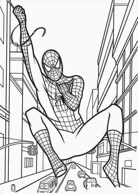 spiderman coloring page printable free coloring pages spiderman free printable coloring pages