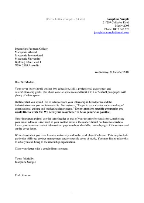 sample of a resume cover letter amazing simple cover letter free