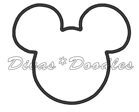 mickey mouse face outline cliparts co
