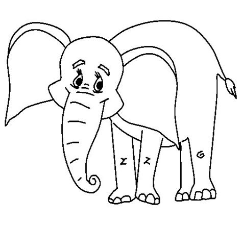 imagenes para colorear elefante dibujo de elefante feliz para colorear dibujos net
