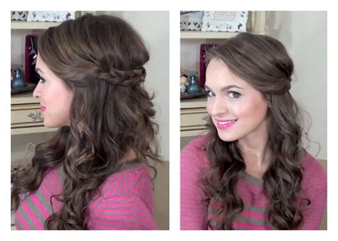 easy wedding hairstyles for bridesmaids simple half up hairstyle my bridesmaids hairstyles