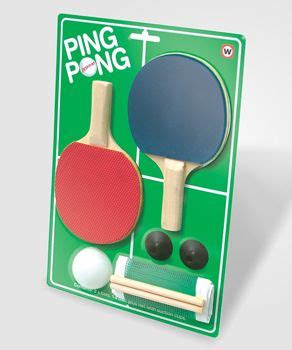Desktop Ping Pong Kit by Fredflare Desktop Ping Pong Kit Desktop Table