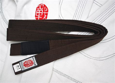 bjj jiu jitsu brown belt by battle gear