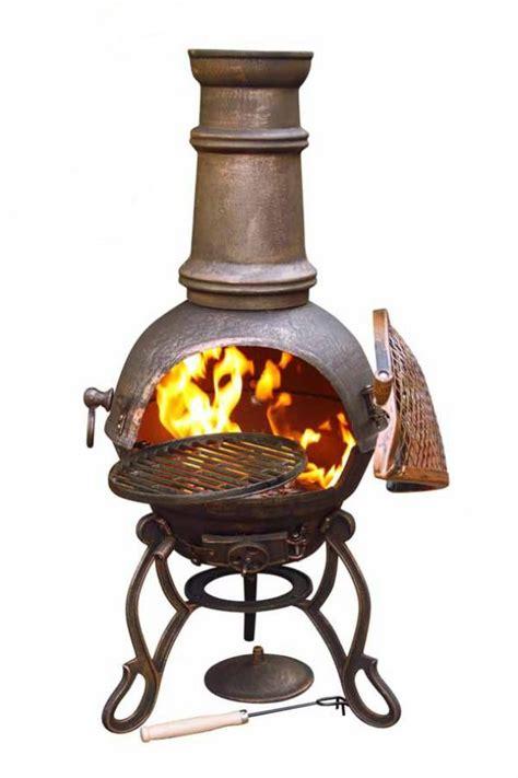 Iron Chimenea Toledo Cast Iron Chimenea Bronze Savvysurf Co Uk