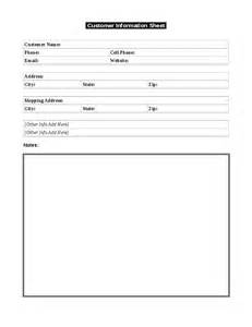 customer profile sheet template b l fence company customer information below hashdoc