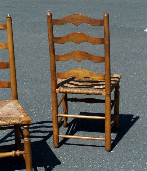 ladder back chairs seats 7799 set of 4 stickley ladder back maple chairs with