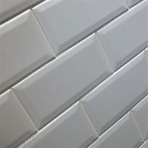 bevel brick white is a white gloss bevel edge wall tile by 10x20cm bevel brick white tile blanco biselado brillo by