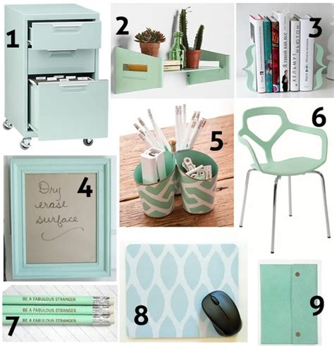mint green home decor mint green decor for the office for the home pinterest