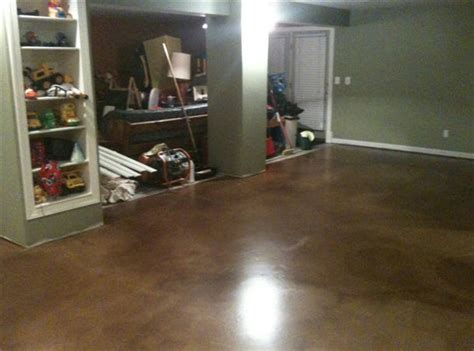 how to stain basement concrete floor my most expensive basement finishing mistake and exactly