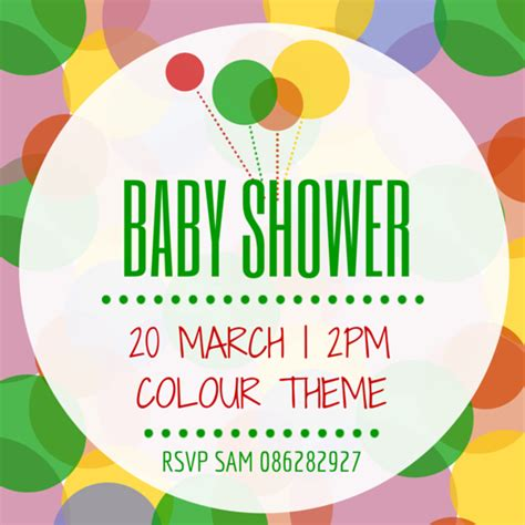 canva baby shower make your own baby shower invitation canva