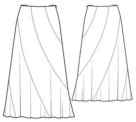 online pattern download skirt with spiral gores sewing pattern 5427 made to