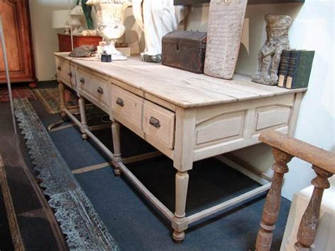 large french antique work table in oak sold office