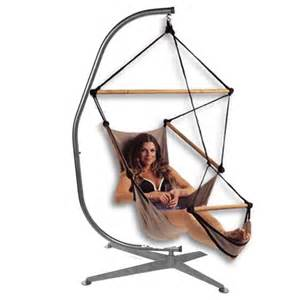 C shaped hammock chair stand black