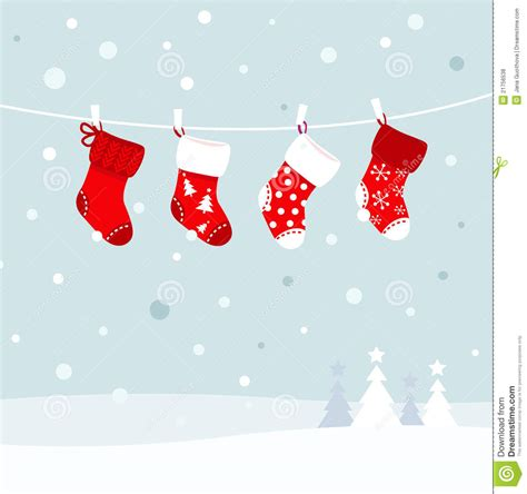 christmas stockings  winter nature royalty  stock  image