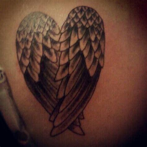 angel tattoo we heart it my tattoo heart shaped angel wings tatoos pinterest